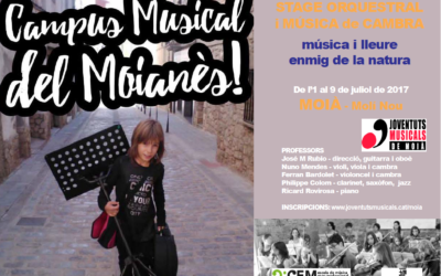 Oberta la inscripció a les Colònies Musicals 2017